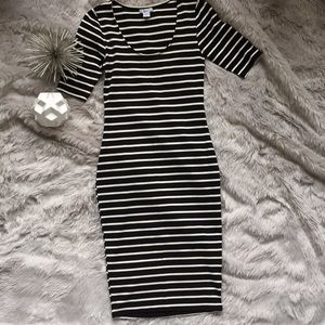 Bar III | Stripe Bodycon Midi Dress | S